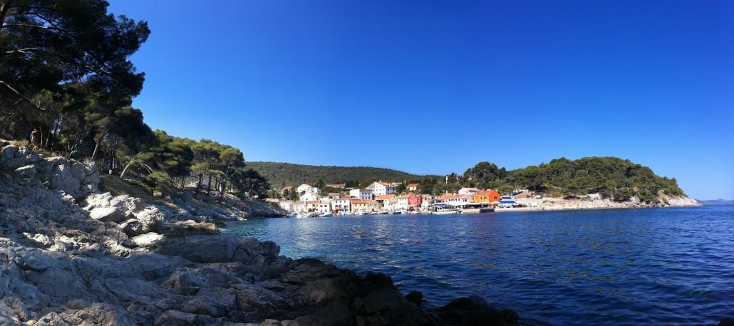 malerische Bucht in Kroatien